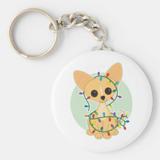 Chihuahua Lights Key Ring
