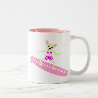 Chihuahua Longboard Surfer Girl Mug