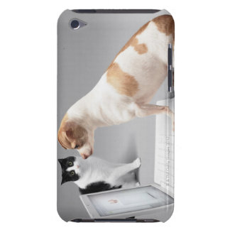 Chihuahua looking into the screen of a laptop barely there iPod case