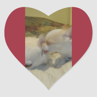 Chihuahua Love Heart Stickers