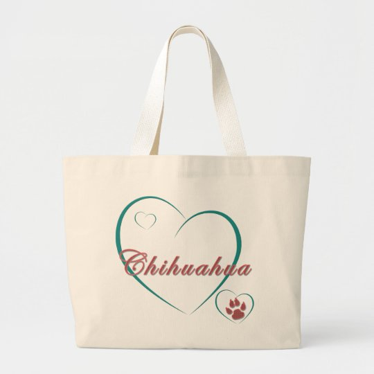 Chihuahua Love Large Tote Bag