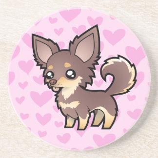 Chihuahua Love (long coat) Coaster