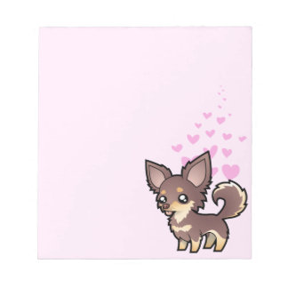 Chihuahua Love (long coat) Notepad