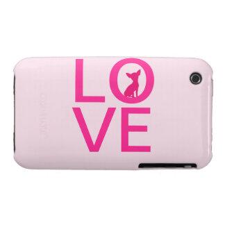 Chihuahua love pink dog cute iPhone 3G case mate Case-Mate iPhone 3 Cases