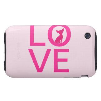 Chihuahua love pink dog cute iPhone 3G mate case Tough iPhone 3 Case