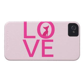 Chihuahua love pink dog cute iPhone 4 case mate