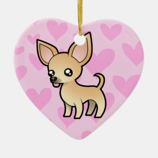 Chihuahua Love (smooth coat) Christmas Ornament
