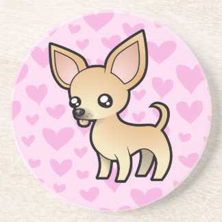 Chihuahua Love (smooth coat) Coasters