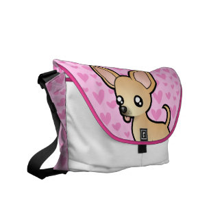 Chihuahua Love (smooth coat) Messenger Bags