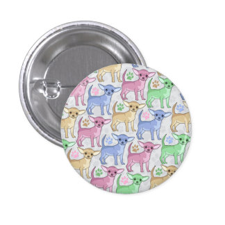 Chihuahua Lover Colorful Pattern 3 Cm Round Badge