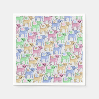 Chihuahua Lover Colorful Pattern Disposable Serviette