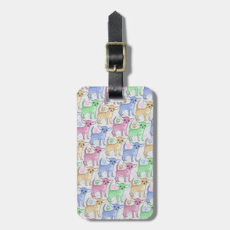 Chihuahua Lover Colorful Pattern Luggage Tag