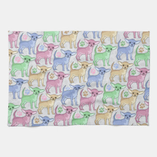 Chihuahua Lover Colorful Pattern Tea Towel