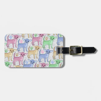 Chihuahua Lover Design With Address Tags For Bags