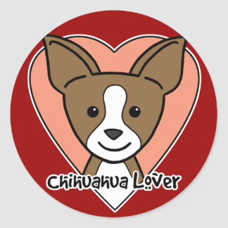 Chihuahua Lover Round Sticker