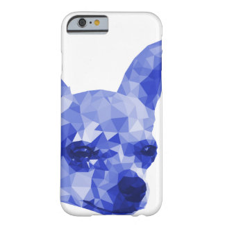 Chihuahua Low Poly Art in Blue Barely There iPhone 6 Case