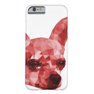 Chihuahua Low Poly Art in Red Barely There iPhone 6 Case