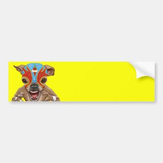 Chihuahua - Mexican wrestler Bumper Sticker