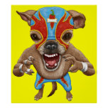 Chihuahua - Mexican Wrestler Posters