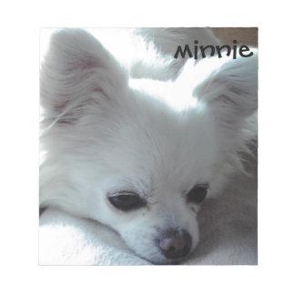 Chihuahua Minnie Memo Note Pad