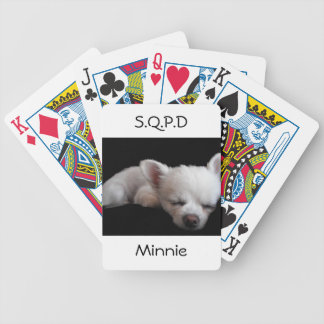 Chihuahua Minnie Bicycle Poker Cards