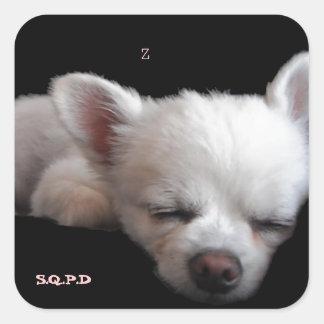 Chihuahua Minnie Square Sticker