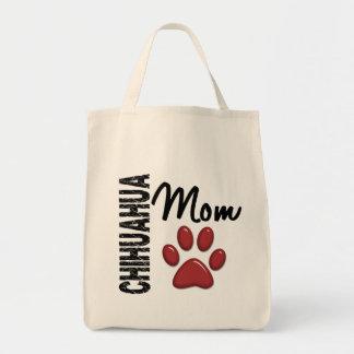 Chihuahua Mom 2 Grocery Tote Bag