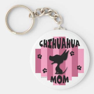 Chihuahua Mom Keychain