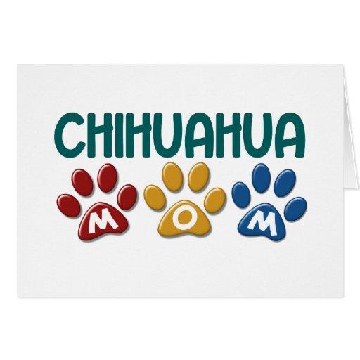 CHIHUAHUA Mom Paw Print 1 Card