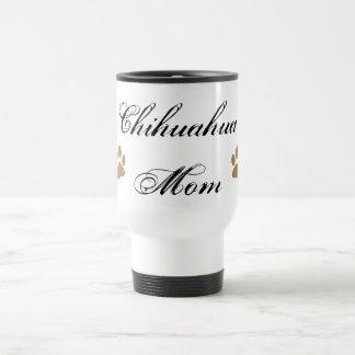 Chihuahua Mom Script w Pawprints Mugs