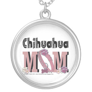 Chihuahua MOM Silver Plated Necklace