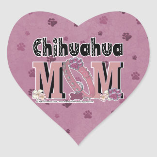 Chihuahua MOM Heart Stickers