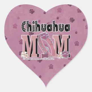 Chihuahua MOM Heart Stickers