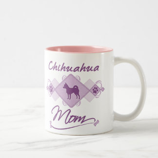 Chihuahua Mom Two-Tone Coffee Mug