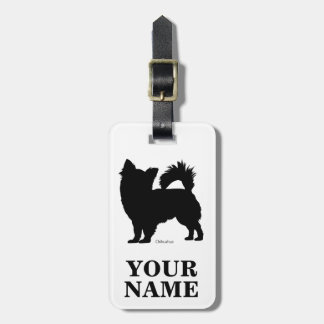 Chihuahua (name inserting) luggage tag