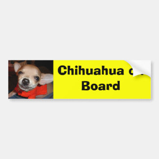 Chihuahua on Board Bumper Sticker