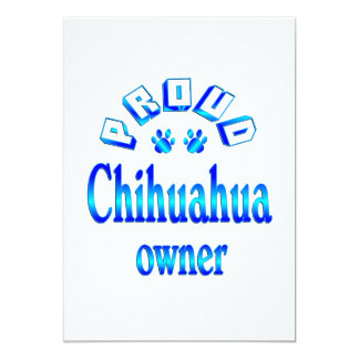 Chihuahua Owner 13 Cm X 18 Cm Invitation Card