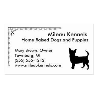 Chihuahua Pack Of Standard Business Cards