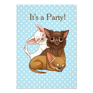 Chihuahua Party Invitation