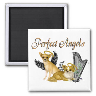 Chihuahua Perfect Angels Square Magnet