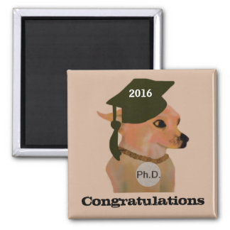 Chihuahua Ph.D Graduation Magnets