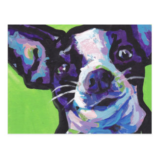 Chihuahua Pop Art painting Postcard