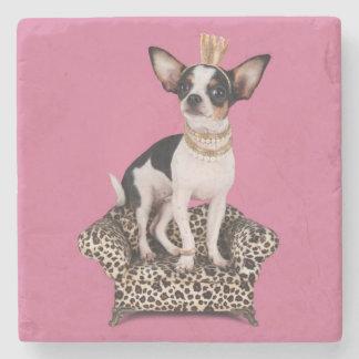 Chihuahua Princess Stone Coaster
