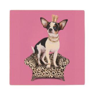 Chihuahua Princess Wood Coaster