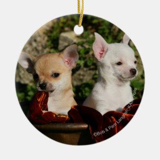 Chihuahua Puppies Christmas Ornament