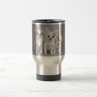 Chihuahua puppies travel mug