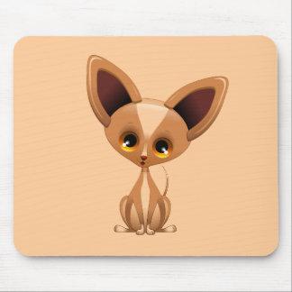 Chihuahua Puppy Dog Cartoon Mouse Pad