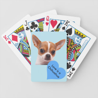 Chihuahua Puppy Dog Bicycle Poker Deck