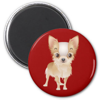 Chihuahua Puppy Dog Red Fridge Magnet