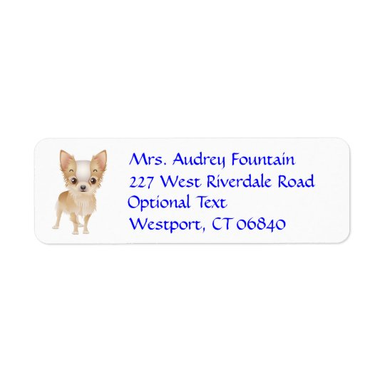 Chihuahua Puppy Dog Return Address Name Label